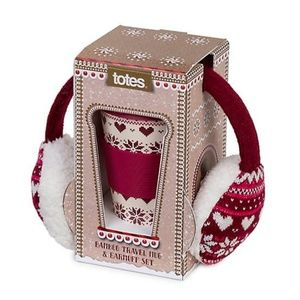 TOTES Earmuff Reindeer Travel Mug Gift Set